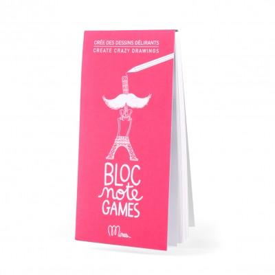 Crée des dessins délirants  BLOC NOTE GAMES