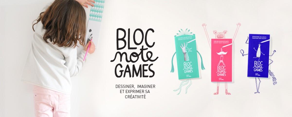 Slide bloc note games
