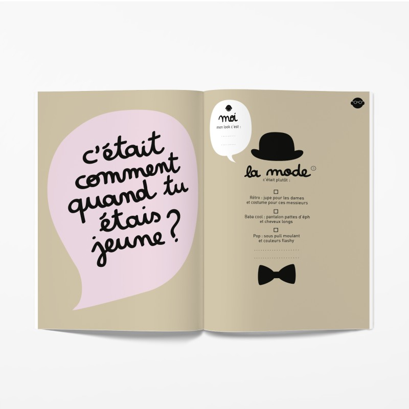 Livre Papi, Mamie et moi  Cahier grand-parents-enfant Minus Editions