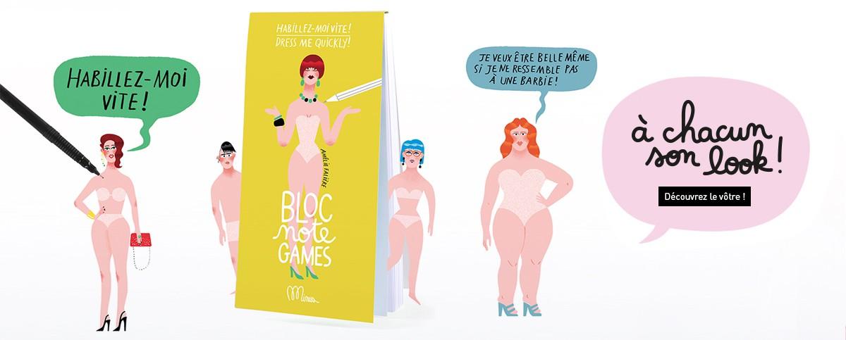 Bloc Note Games Mode - Minus éditions - Activités mode - créer des looks